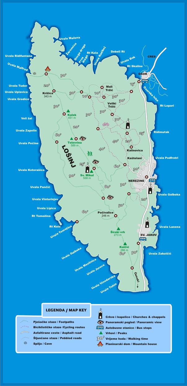 Losinj Island Map